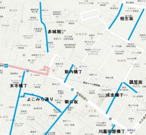 神楽坂上の地図