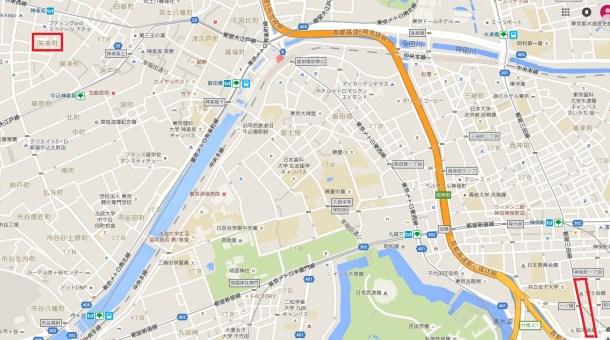 矢来町と外語仏語科(現在は如水会館)
