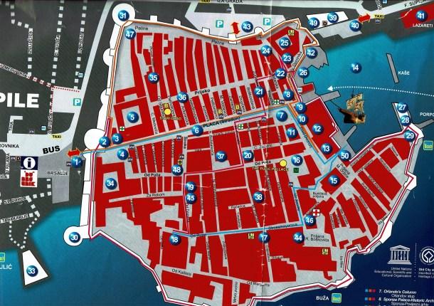 ドゥブロヴニクの地図