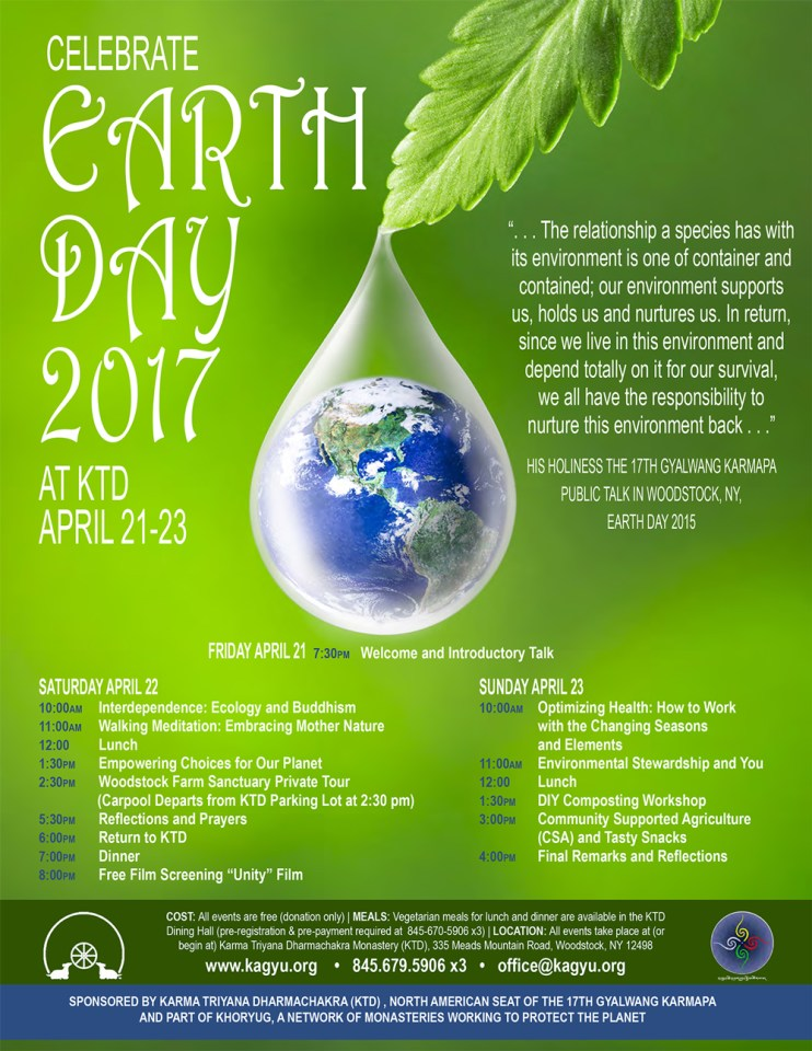 Earth Day 2017 Schedule
