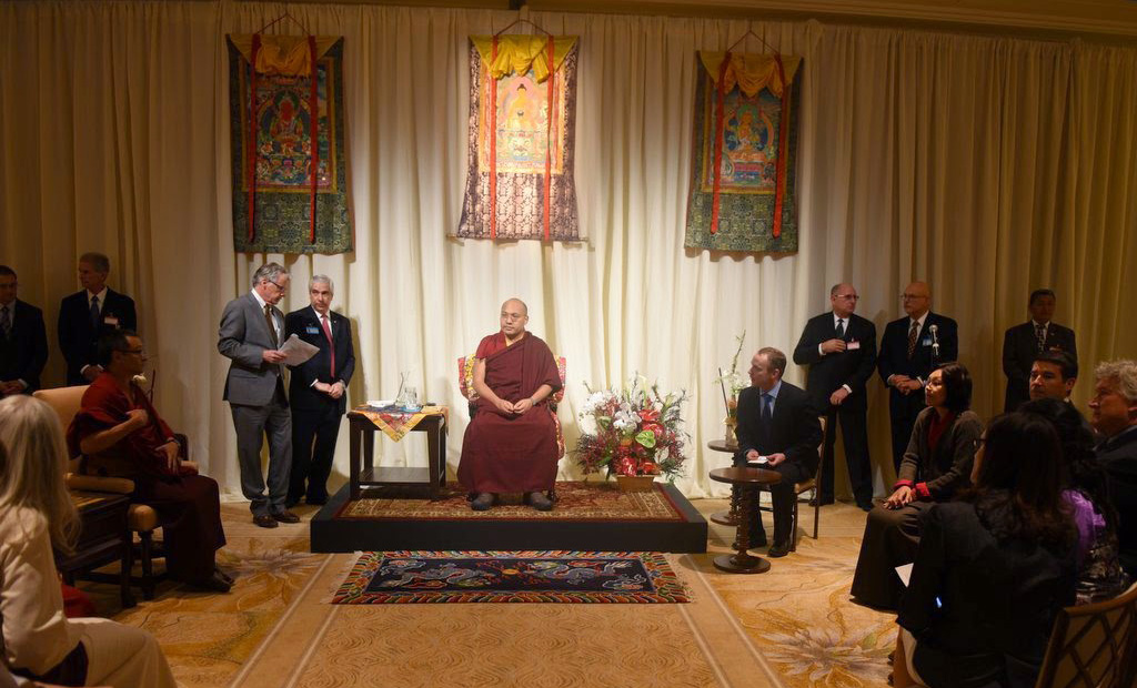Karmapa Speaks at Reception to Welcome Him to USA