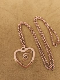 玫瑰金頸鏈 ∣ Rose Gold Necklace