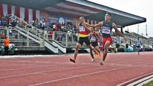 Fadli menyumbang emas pada nomor 200 meter Porprov Foto: Bin