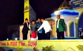 Bupati Bima membuka secara resmiMusabaqah Tilawatil Qur'an (MTQ) ke-27  tingkat Kabupaten Bima . Foto: HUM