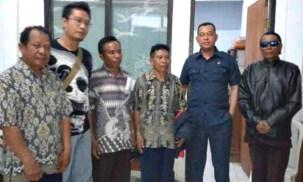 Empat Kepsek di Kecamatan Langgudu yang ditetapkan sebagai tersangka. Foto: Teta