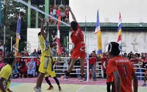 Pertandingan Final Bola Voli Turnamen BEM STISIP Cup. Foto: Deno