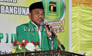 Ketua Panitia Muscab PPP Kota Bima, H. Syafriansar saat menyampaikan sambutan. Foto: Bin