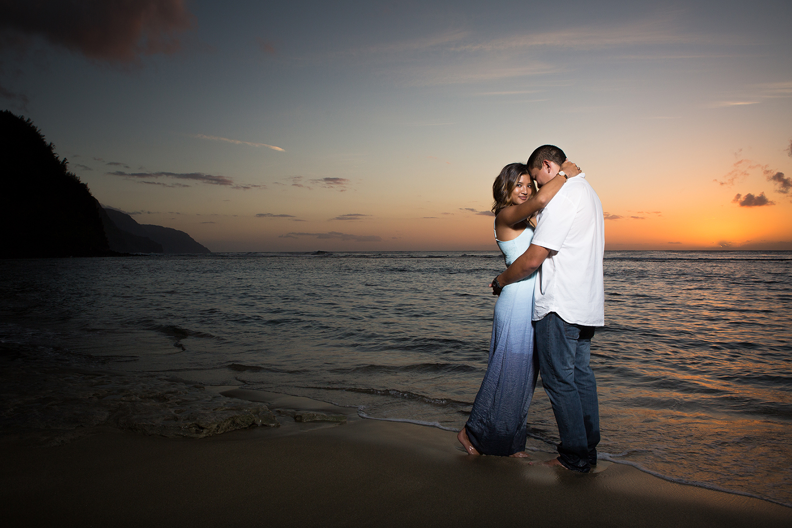 Sunset Engagement Couple