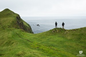 The jagged cliffs of Mykines on the Faroe Islands creates this empty, ghostly scene that fills your with a peaceful loneliness thats hard to describe.
