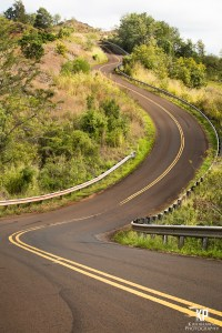 This winding road is one of many on your way up to Waimea Canyon or Koke'e state park.