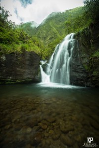 Stunning Kauai Waterfall in the mountains