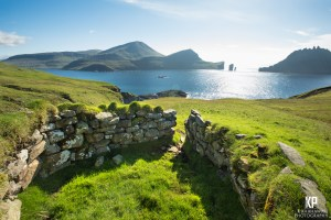 Stone wall structures dot the landscape throughout the Faroe Islands and they create some beautiful subjects against such an incredible scene.
