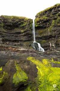 The grey over the Faroe Islands makes it seem as though the very sky itself feeds the waterfalls that dot its landscape