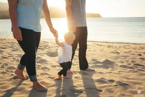 Kauai photographer captures family portraits with a stunning backdrop on Kauai