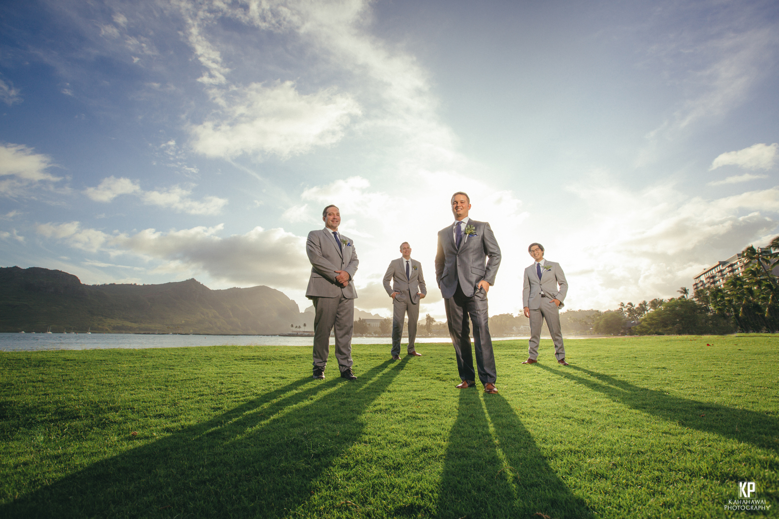 Incredible Kauai sunset wedding at the Kauai Marriott on the beach of Kalapaki Bay
