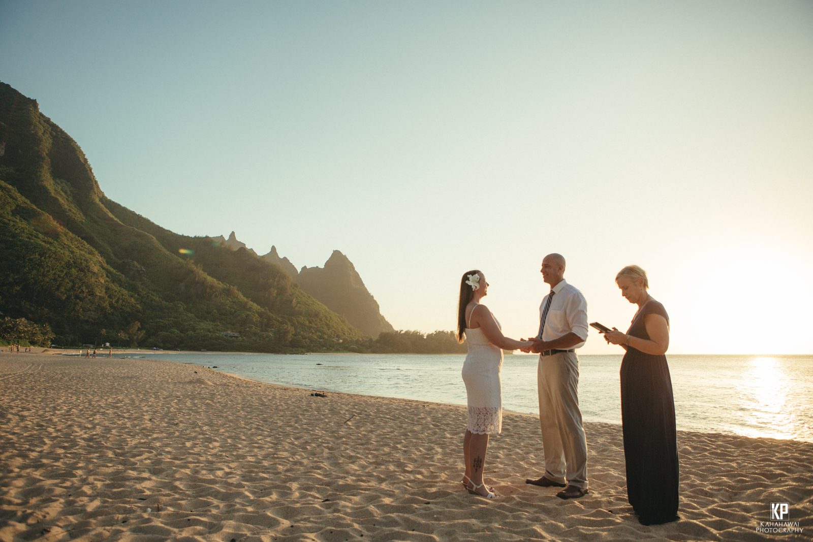 Kauai Wedding Elopement on Kauai - alone on the beach with a professional Kauai Wedding Photographer
