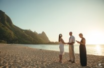 Elopement at Tunnels Beach Kauai