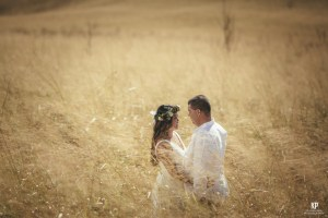 Kauai wedding photographer Kahahawai Photography shooting engagement portraits on the slopes of Waimea Canyon