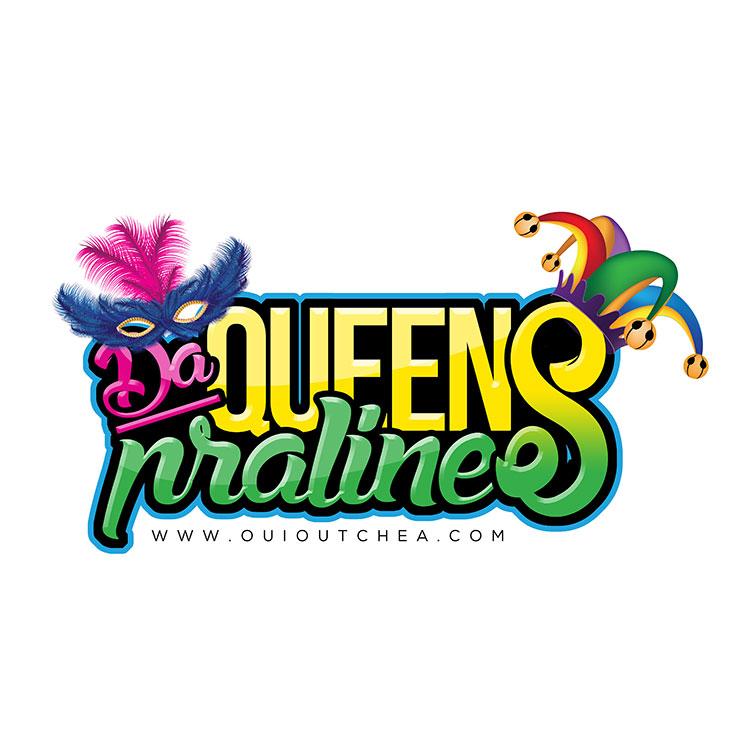 kahraezink-da-queens-pralines-logo-design