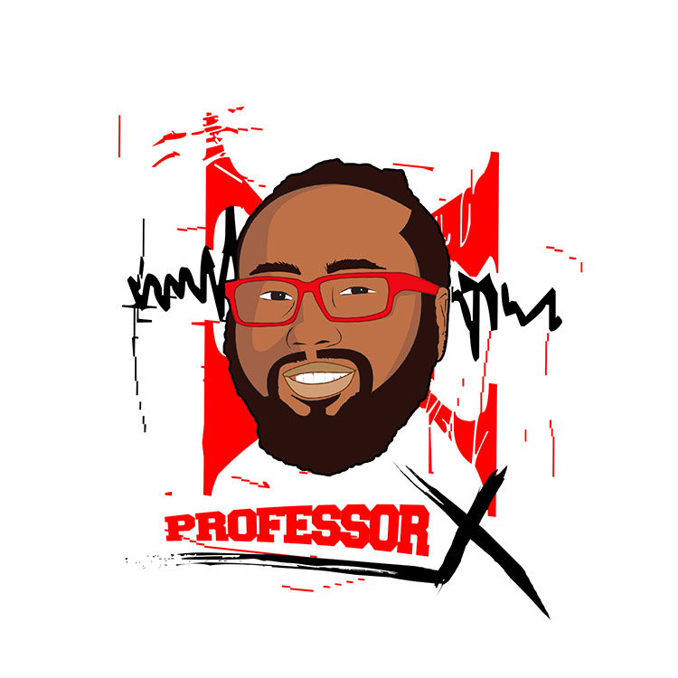 kahraezink_professorx_music_logo_design