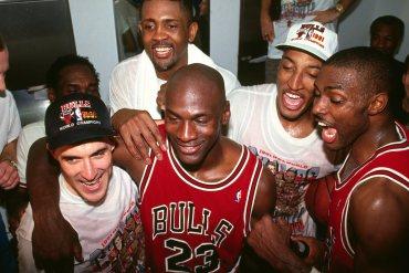 Micheal Jordan Chicago Bulls kutlama