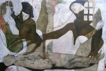 2011-Erstehen-und-Schwinden-130-x-190-cm-Öl,-Acryl,-Tusche,-Nessel