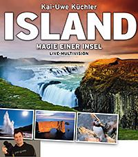 Plakat Live-Vortrag Island