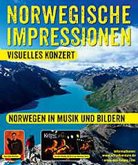 Plakat Live-Vortrag Norwegische-Impressionen