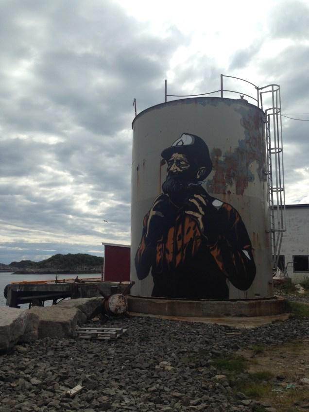 Street art on oil tanker