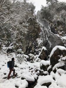 関西の氷瀑、偏妙の滝