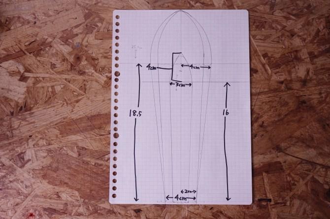 型紙の元(設計図)