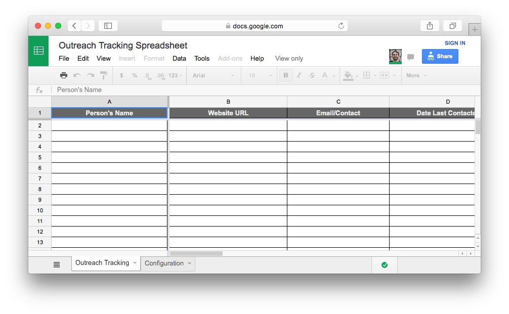 Building customer lists also ensures an easy to maintain customer relationship. Outreach Tracking Spreadsheet Kai Davis