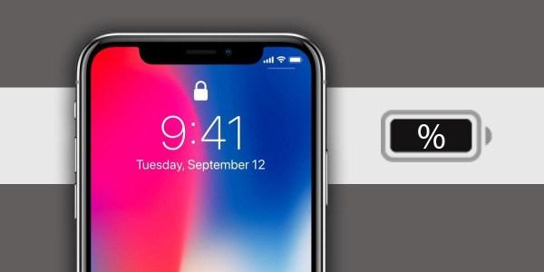 كيفية معرفة النسبة المئوية لبطارية هاتف آيفون 10 iPhone X