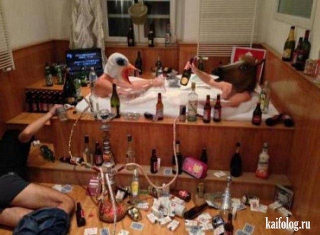 Прикольные и мрачные фото пьяных (55 штук)