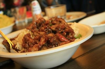 中国広州での食事、定食屋で指差しオーダー