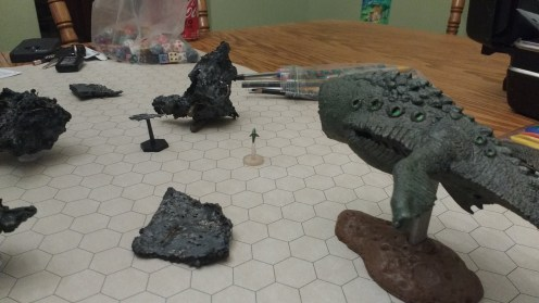Oh! The debris with abnormal sensor readings was actually a Giant Space Whale!