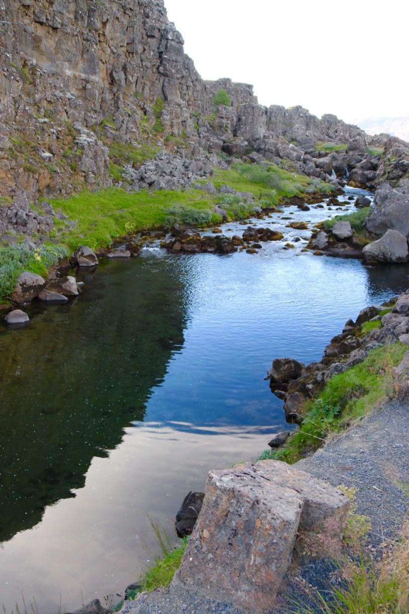 Þingvellir Drekkingarhylur drowning pool Iceland UNESCO