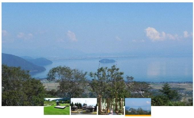 家族旅行村 ビラデスト今津からの風景