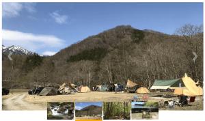 桐の木平キャンプ場の風景