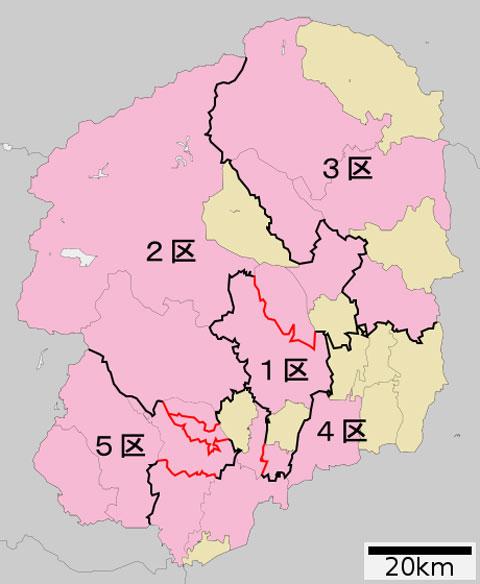 栃木県の選挙区