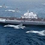 中国海軍の空母遼寧が、西太平洋で初めて艦載機の離発着を伴う訓練を実施