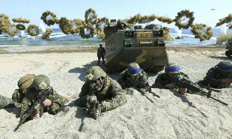 米韓合同軍事演習