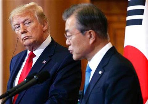 文大統領に不信感を持つトランプ大統領