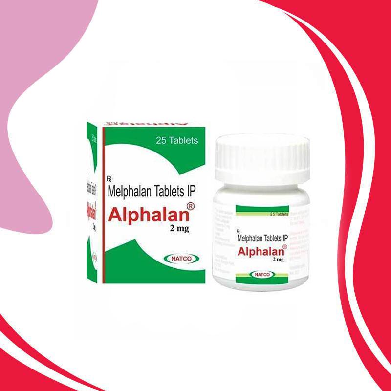 Alphalan Melphalan 2MG 25TAB. Противоопухолевая терапия. Индия