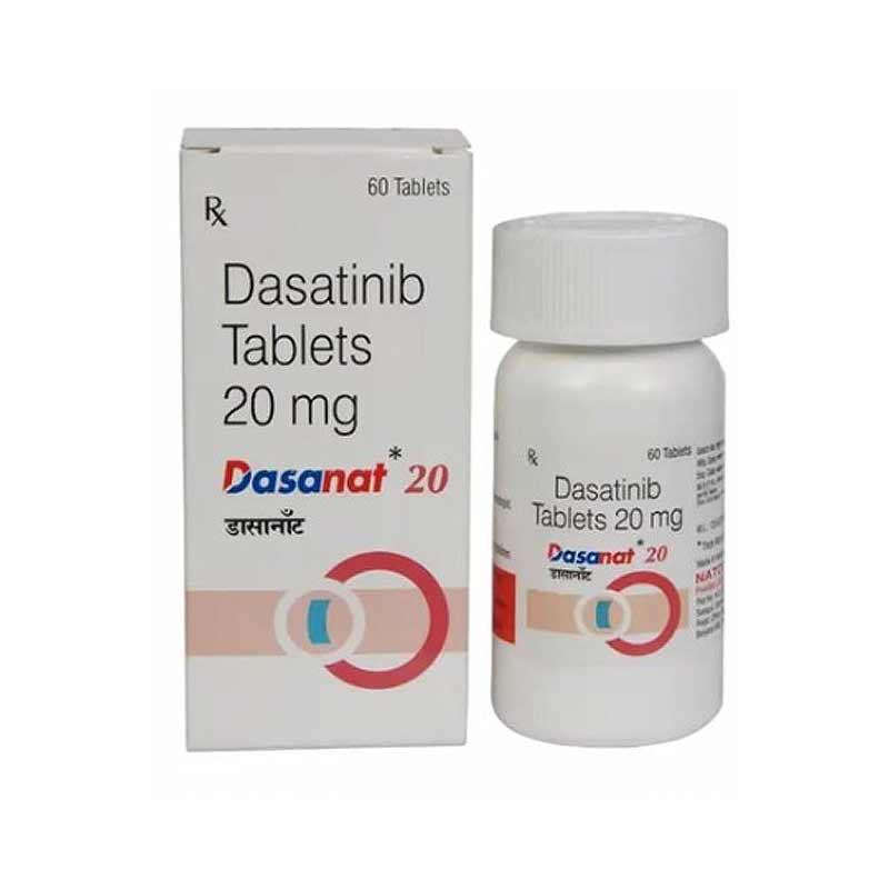 DASANAT 20MG 60TAB  Дазатиниб Лечение лейкоза  Индия