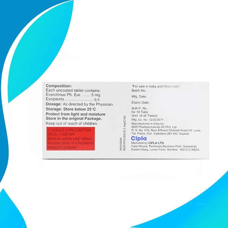 ROLIMUS 5MG 10CAPS. Эверолимус. Противораковая терапия. Индия
