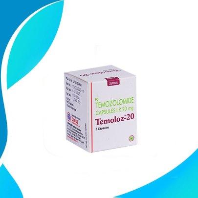 TEMOLOZ  20MG 5TAB. Темозоломид. Средство терапии рака.  Индия
