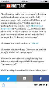 """The headline read: 'Chelsea Clinton: Child marriage and climate change are """"interconnected""""'. The full quote they pulled adds some context that casts a touch of doubt on that claim."""