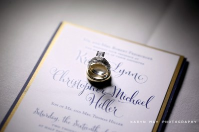 Navy and Gold Wedding Invitation Suite