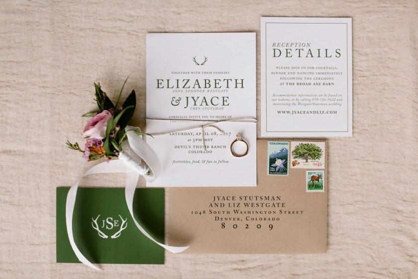 Colorado Mountain Wedding Invitation
